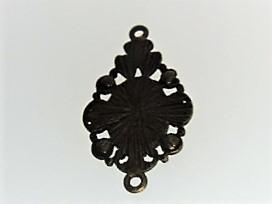 【アクセサリートップ】枠飾り・2個付き丸環(金古美)5個入り_画像3