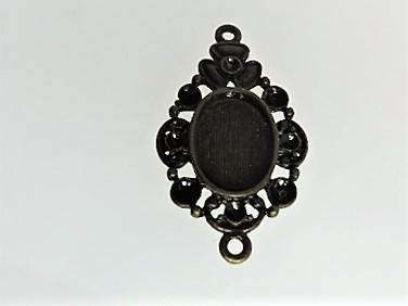 【アクセサリートップ】枠飾り・2個付き丸環(金古美)5個入り