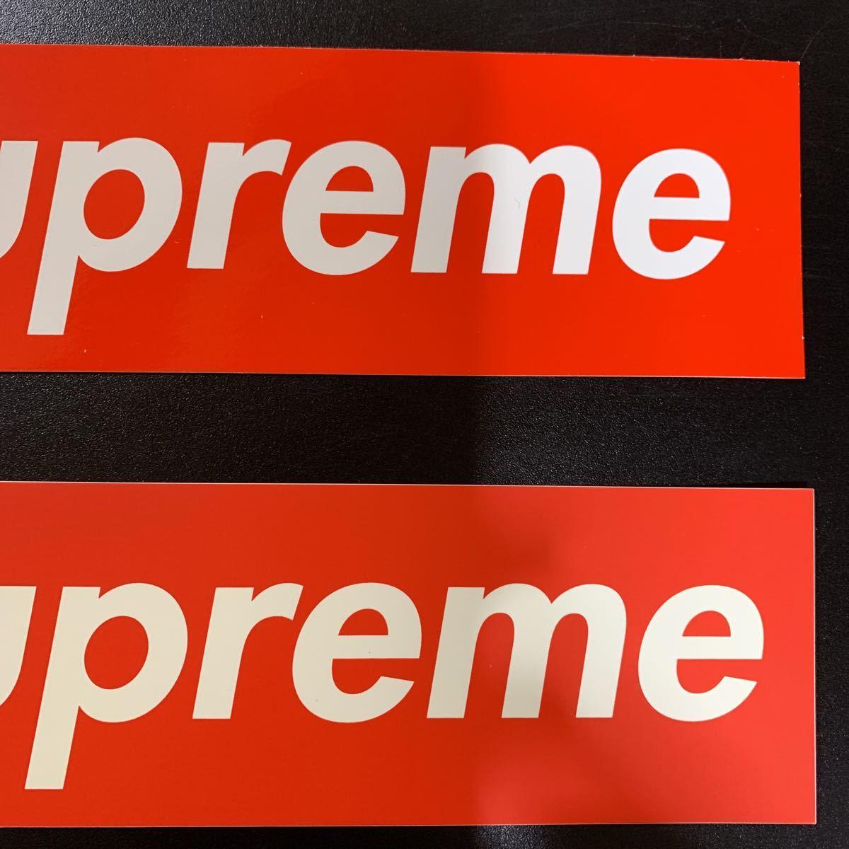 【正規品・新品未使用品】《送料370円》SUPREME 新旧 BOX Logo 2枚セットシュプリーム ボックスロゴ ステッカー _画像3