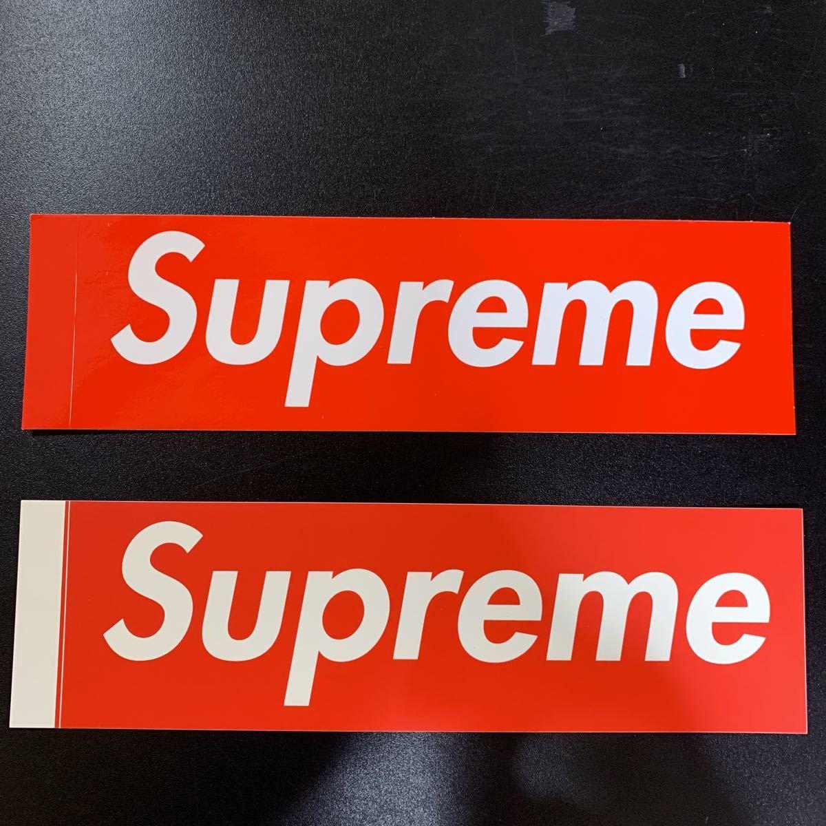【正規品・新品未使用品】《送料370円》SUPREME 新旧 BOX Logo 2枚セットシュプリーム ボックスロゴ ステッカー _画像1