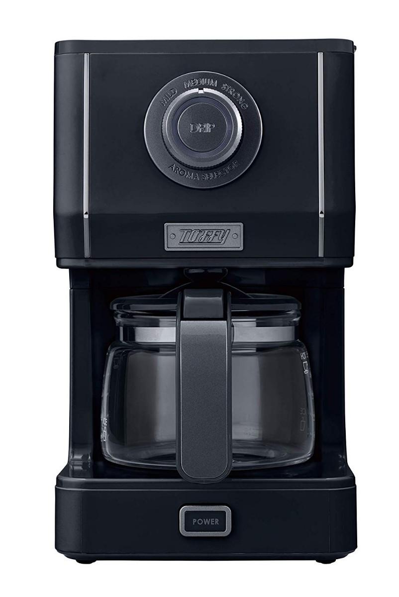 【新品】Toffy アロマドリップコーヒーメーカー ブラック コーヒーメーカー