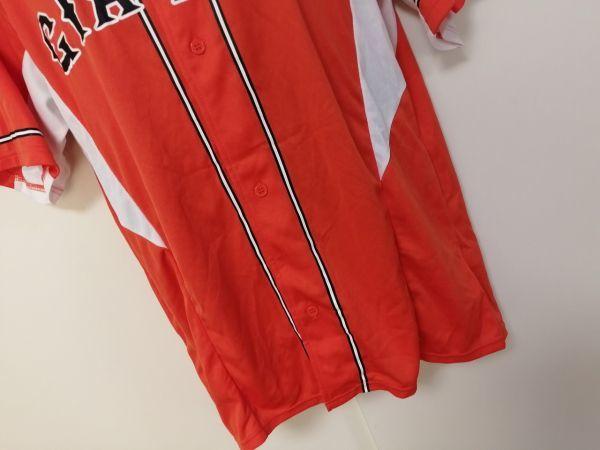 kkyj3288 ■ GIANTS ■ ジャイアンツ adidas アディダス シャツ Tシャツ ユニフォーム 半袖 ドライメッシュ ベースボール 野球 オレンジ L_画像3