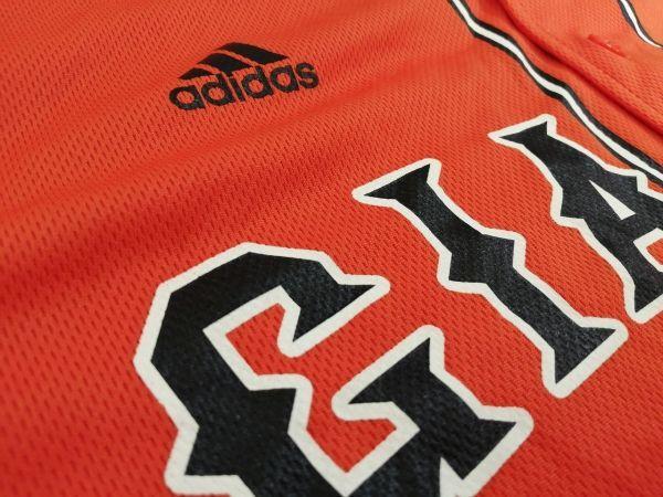 kkyj3288 ■ GIANTS ■ ジャイアンツ adidas アディダス シャツ Tシャツ ユニフォーム 半袖 ドライメッシュ ベースボール 野球 オレンジ L_画像8