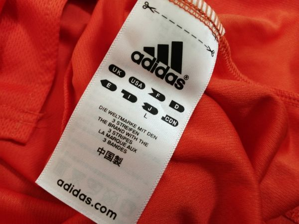 kkyj3288 ■ GIANTS ■ ジャイアンツ adidas アディダス シャツ Tシャツ ユニフォーム 半袖 ドライメッシュ ベースボール 野球 オレンジ L_画像9