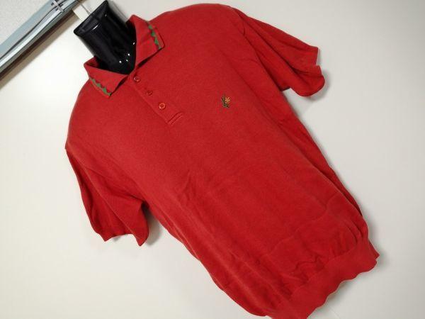 kkyj3317 ■ KENZO ■ ケンゾー ニット ポロシャツ トップス 半袖 コットン オレンジ 3 L