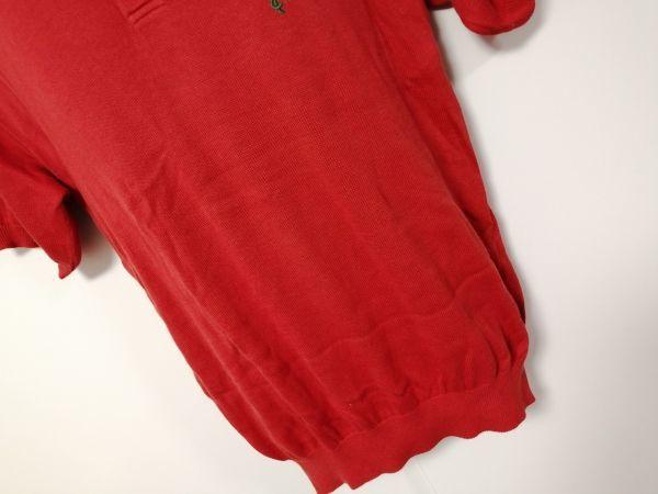 kkyj3317 ■ KENZO ■ ケンゾー ニット ポロシャツ トップス 半袖 コットン オレンジ 3 L_画像3
