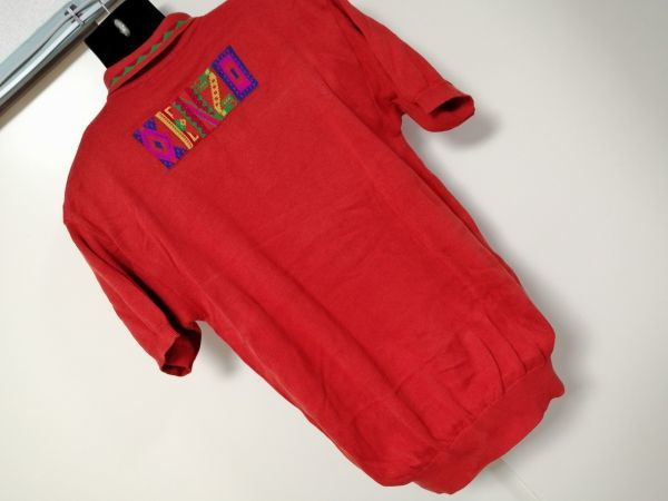 kkyj3317 ■ KENZO ■ ケンゾー ニット ポロシャツ トップス 半袖 コットン オレンジ 3 L_画像5