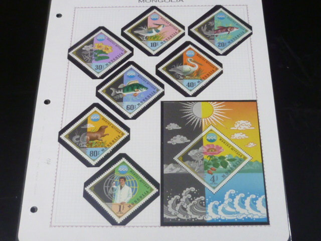 20 S モンゴル切手 1972-74年 A 札幌オリンピック冬季大会・サーカス・他 各完揃 計70種+小型シート2種・12面SL 未使用NH・VF_画像10