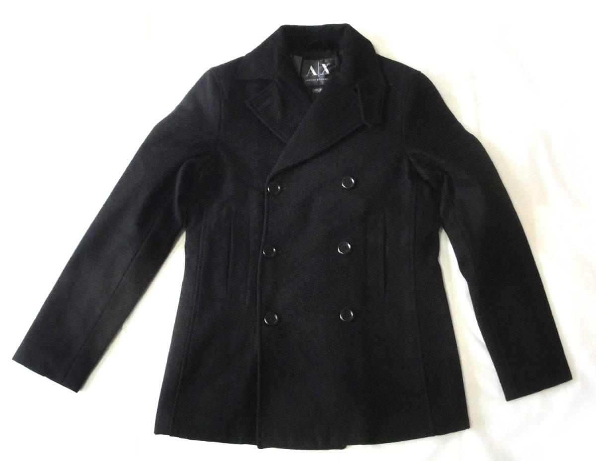 ★AlX ARMANI EXCHANGE アルマーニ エクスチェンジ メンズPコート黒S未使用本物