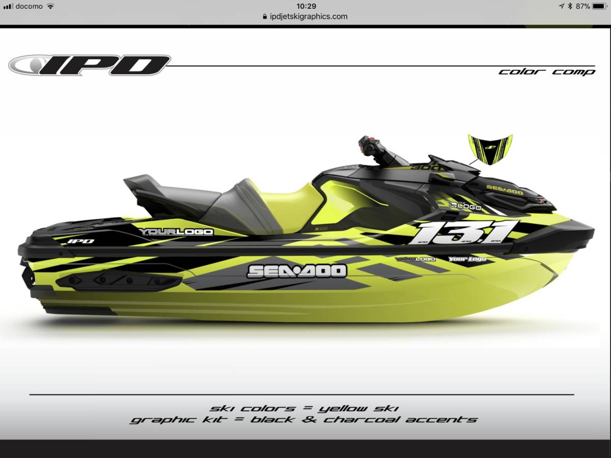 「SEA-DOO RXT300, 230, 155 IPD ステッカーキット」の画像1