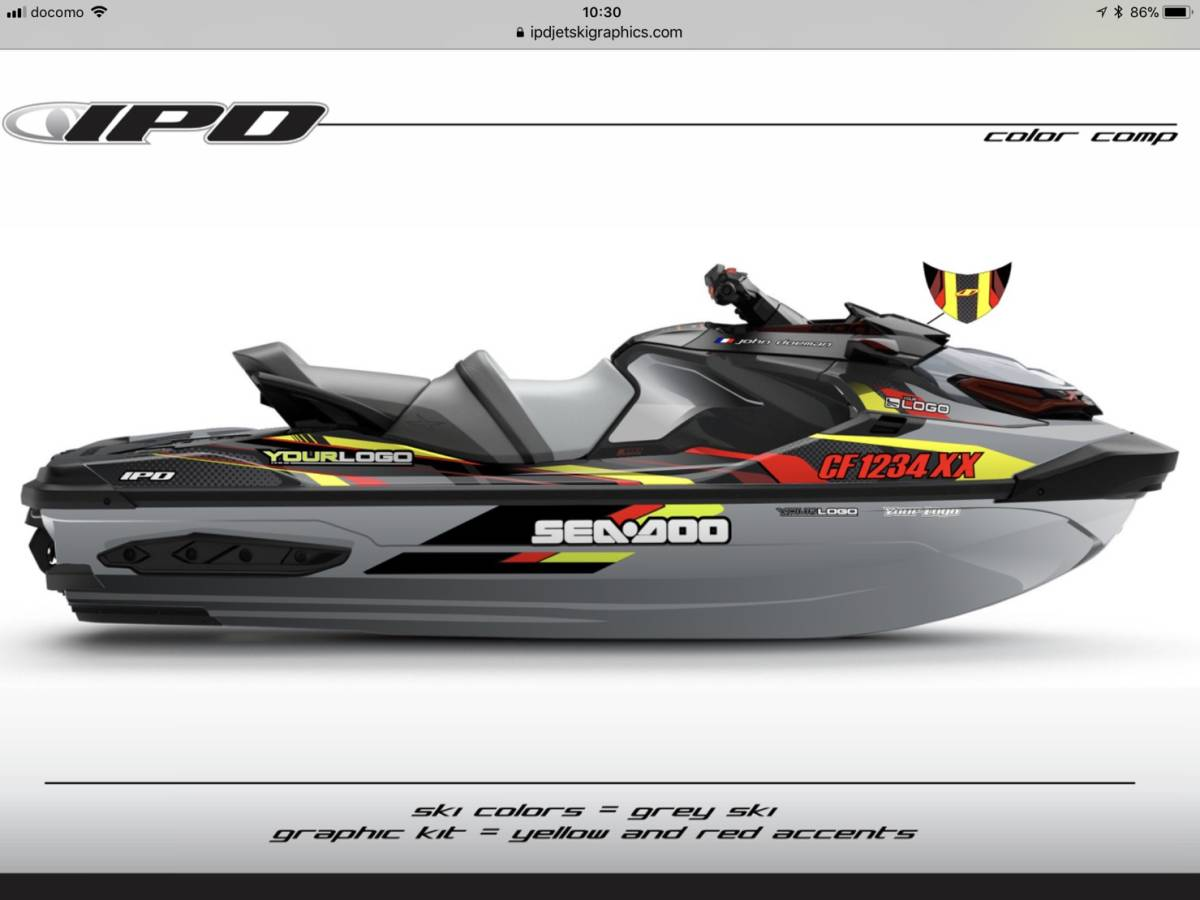 SEA-DOO RXT300, 230, 155 IPD ステッカーキット_画像6