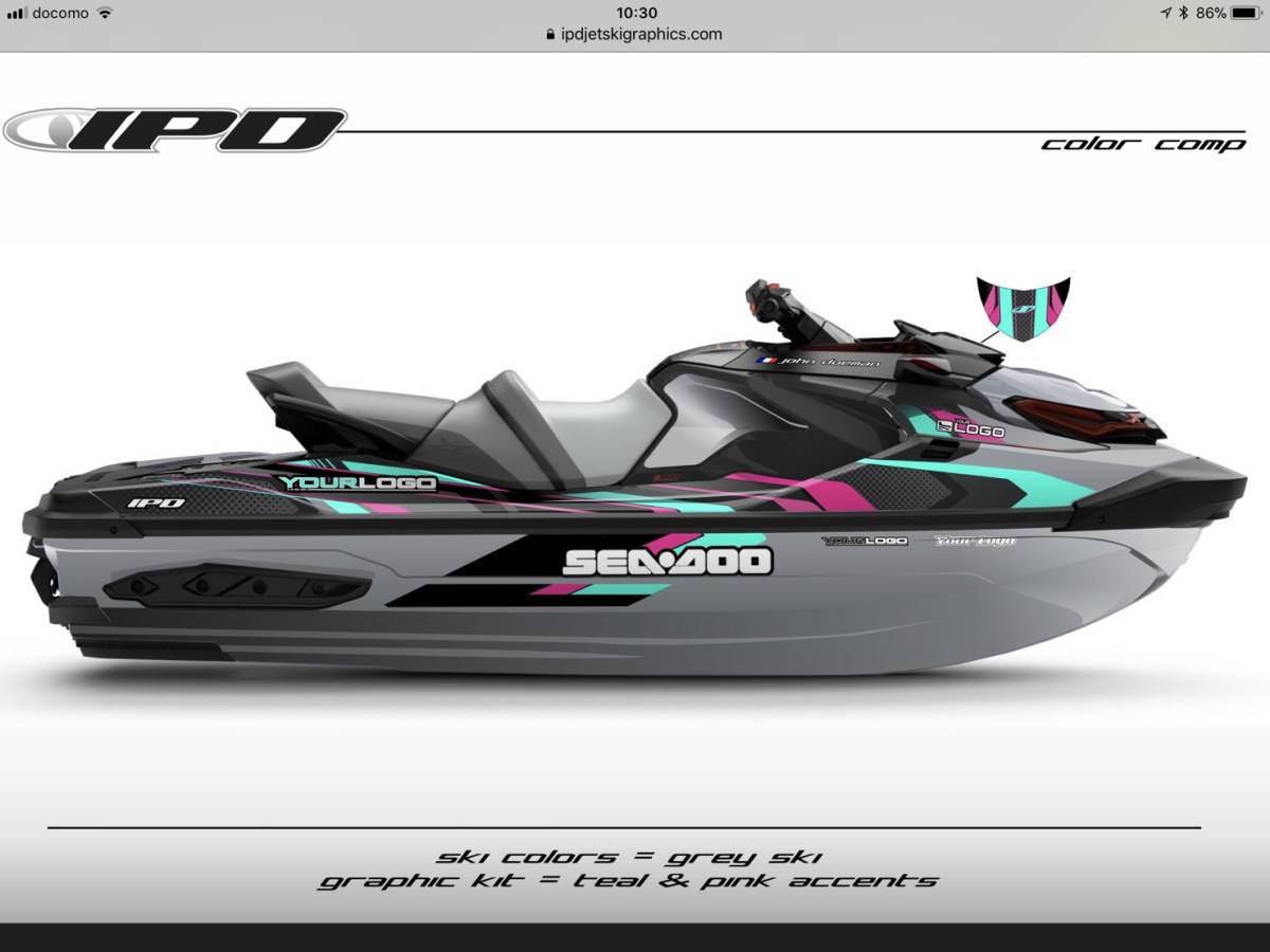 SEA-DOO RXT300, 230, 155 IPD ステッカーキット_画像5