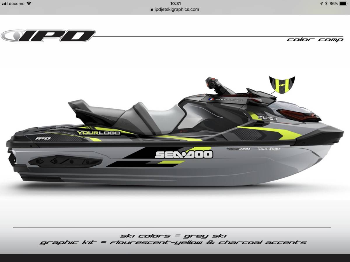 「SEA-DOO RXT300, 230, 155 IPD ステッカーキット」の画像3