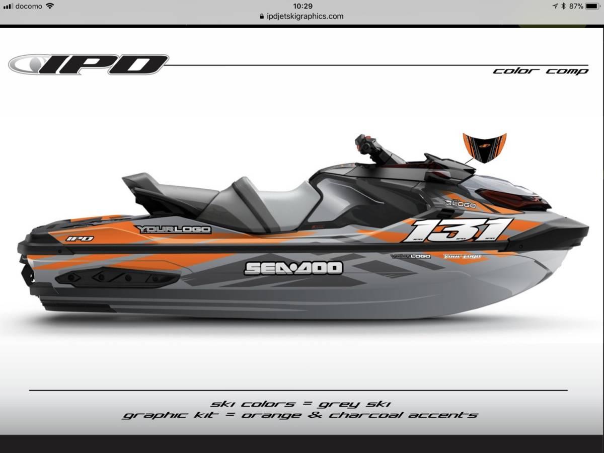 SEA-DOO RXT300, 230, 155 IPD ステッカーキット_画像4