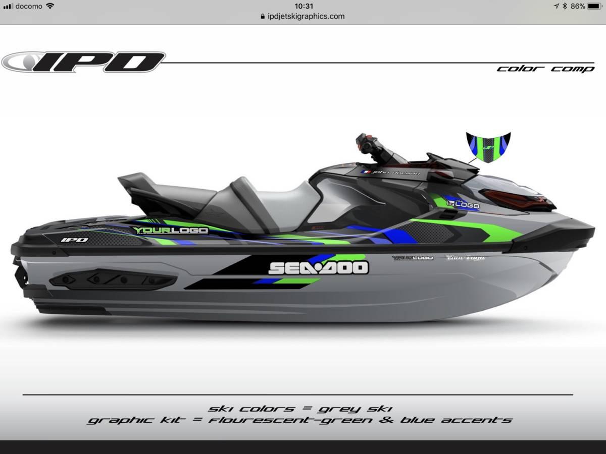SEA-DOO RXT300, 230, 155 IPD ステッカーキット_画像10