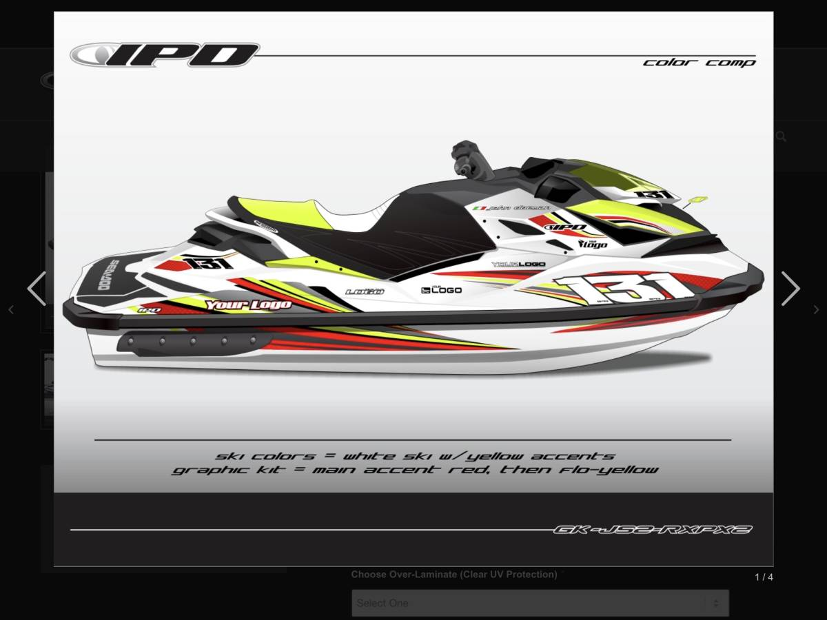 「SEA-DOO RXP 260, 300 IPD ステッカーキット」の画像3