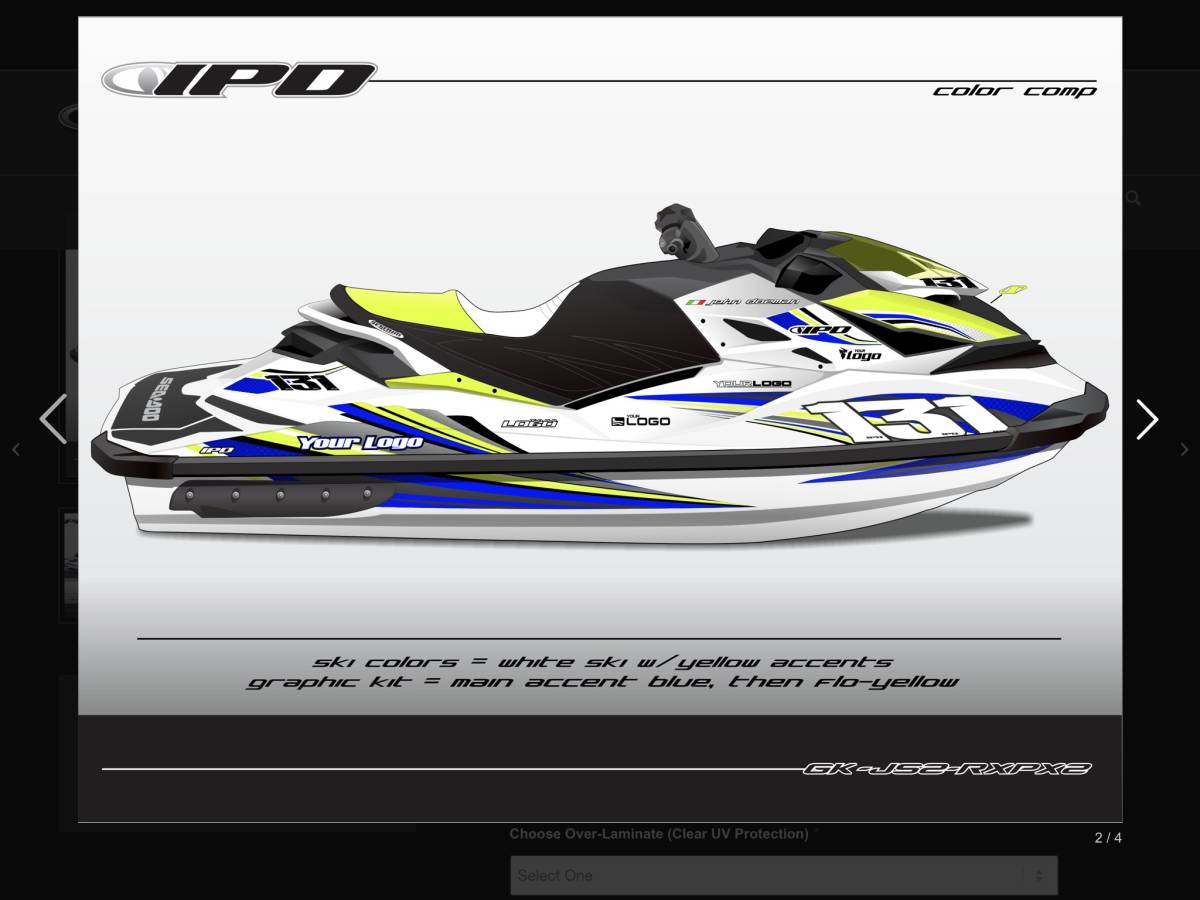 「SEA-DOO RXP 260, 300 IPD ステッカーキット」の画像2