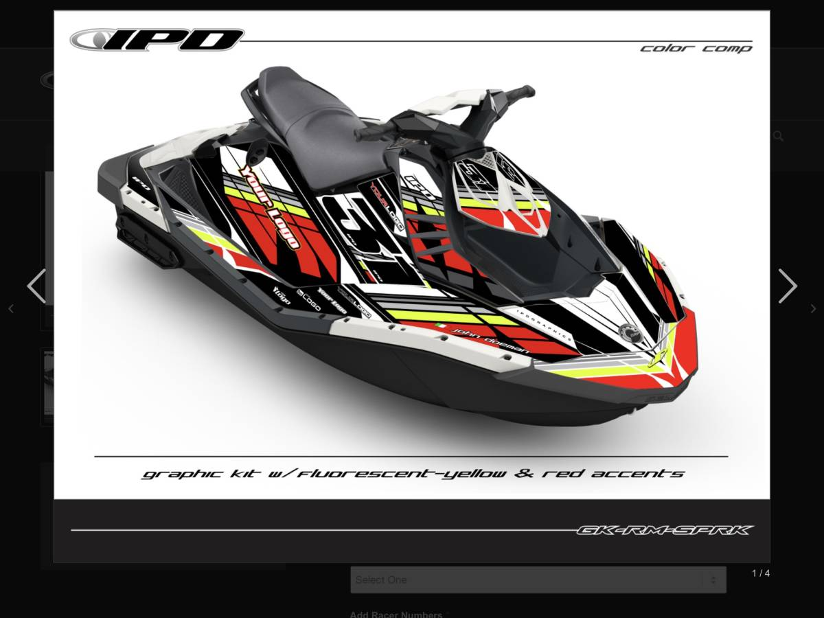 「SEA-DOO SPARK IPDステッカーキット」の画像1