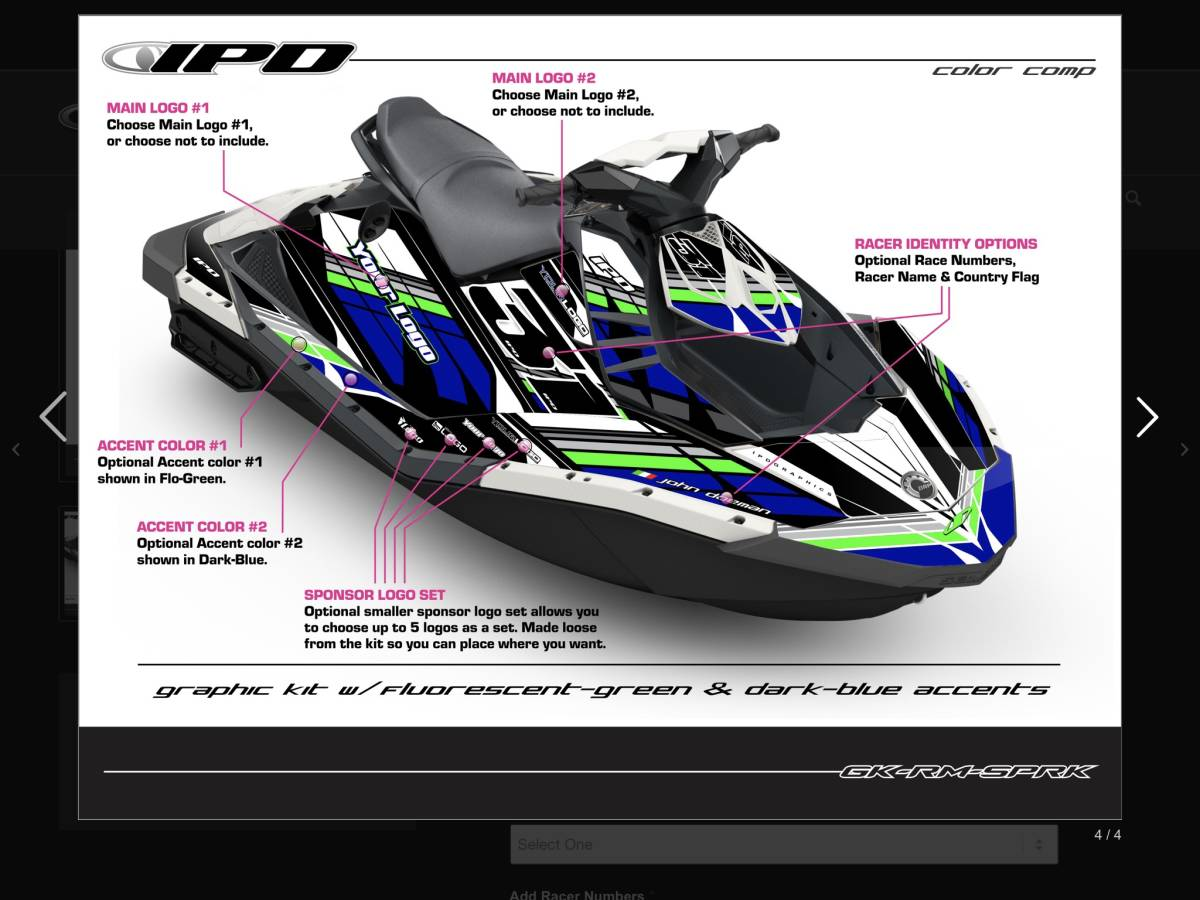 「SEA-DOO SPARK IPDステッカーキット」の画像3