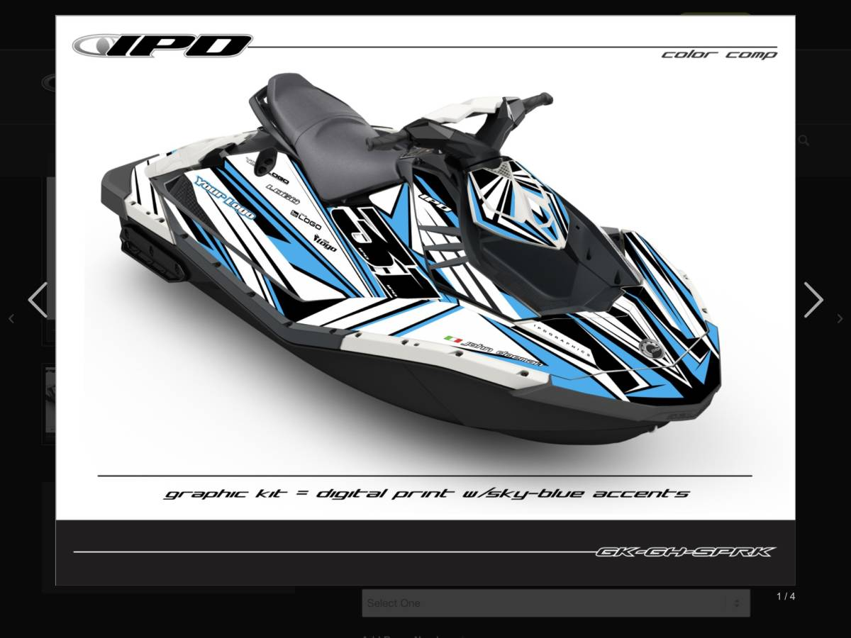 「SEA-DOO SPARK IPDステッカーキット」の画像2