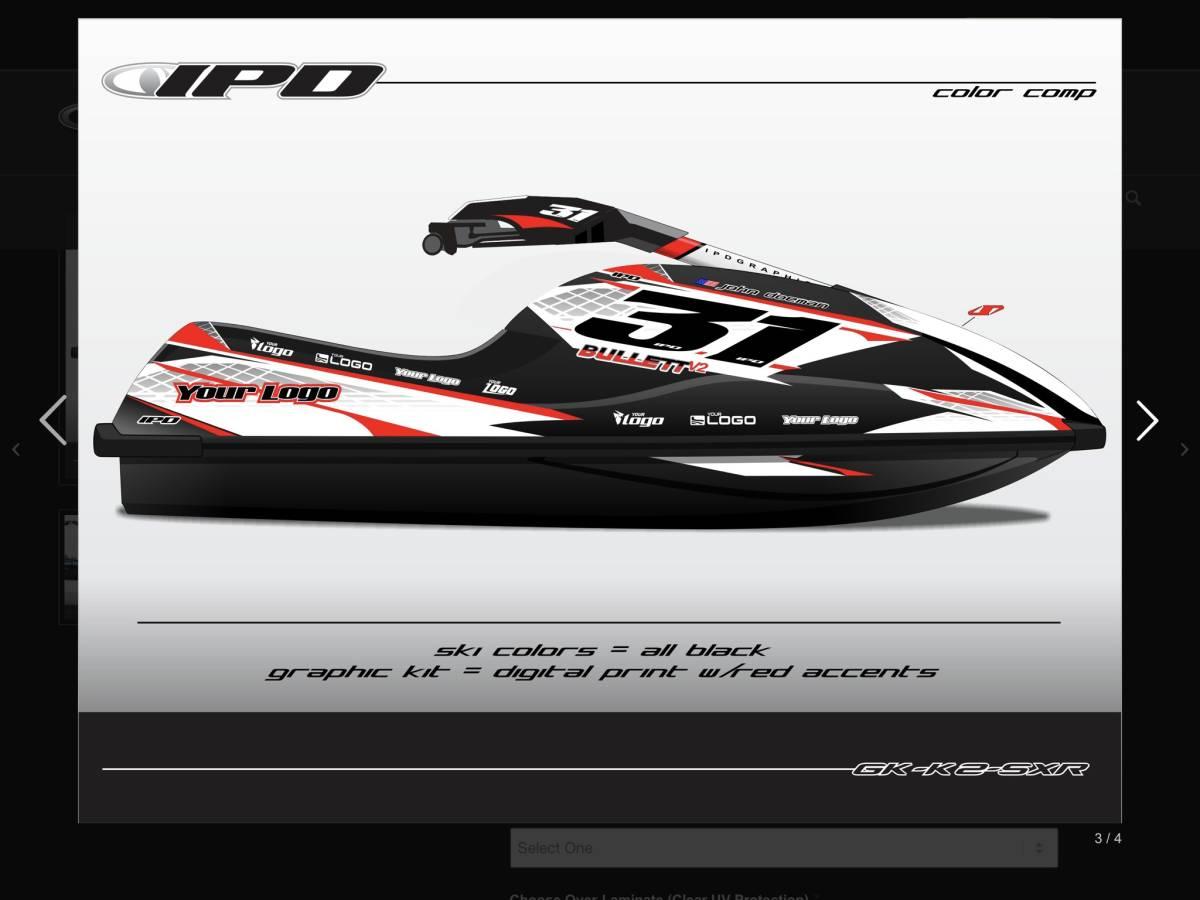 「Kawasaki SXR800 IPD ステッカーキット」の画像1