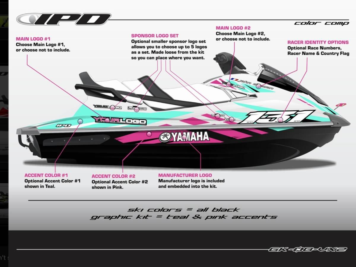 「  YAMAHA GP1800 IPD ステッカーキット。」の画像1