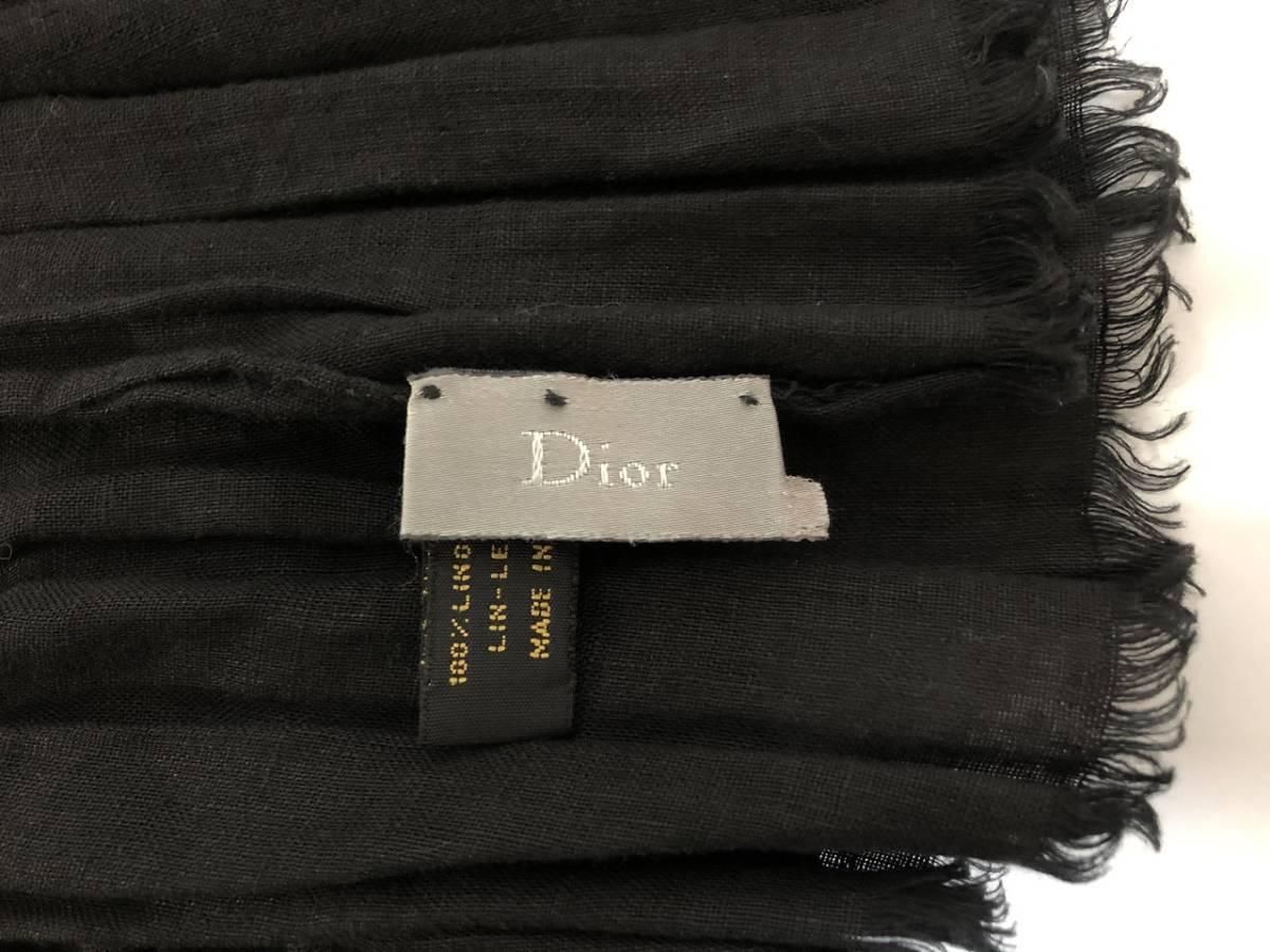 Dior Homme ディオールオム リネン ロングストール! マフラー ブラック_画像4