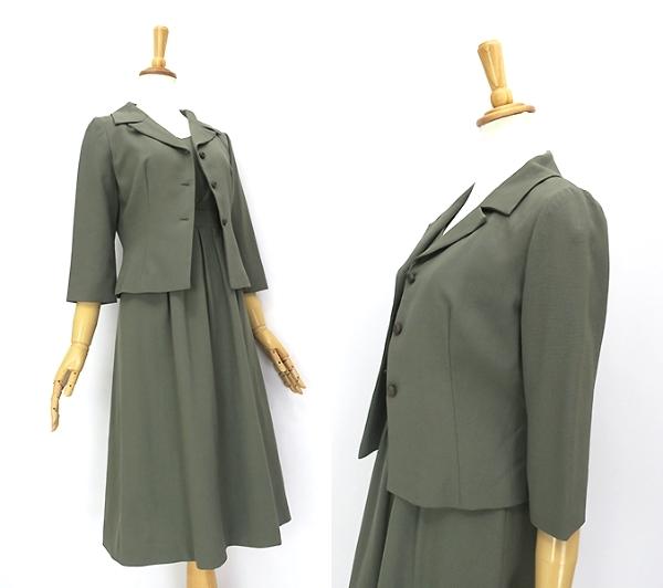 Sybilla シビラ ウール100% 7分袖ジャケット ワンピースセットアップ M-L