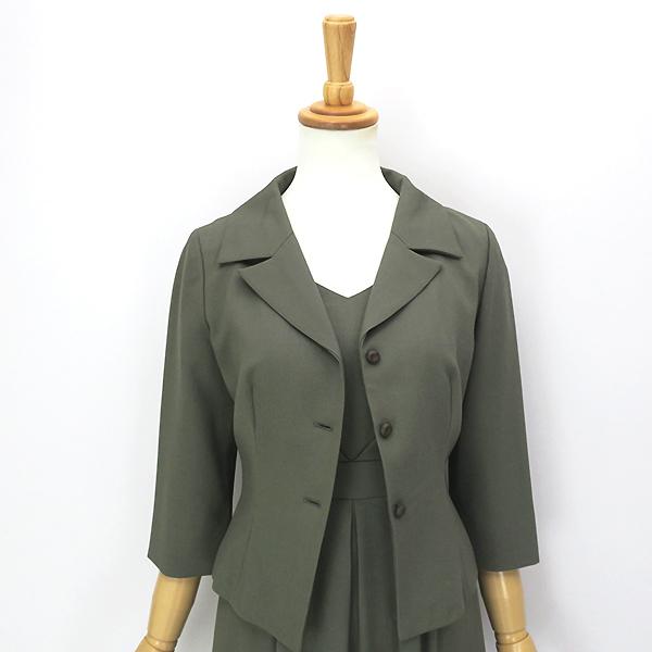 Sybilla シビラ ウール100% 7分袖ジャケット ワンピースセットアップ M-L_画像6