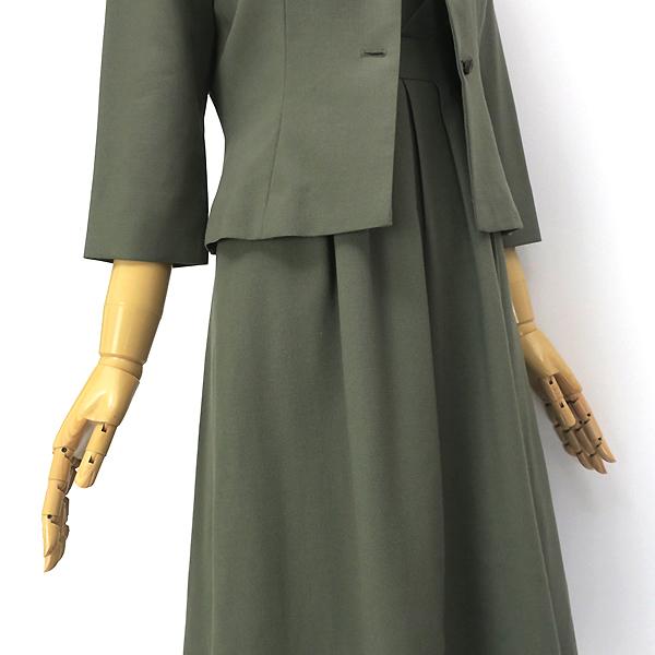 Sybilla シビラ ウール100% 7分袖ジャケット ワンピースセットアップ M-L_画像7
