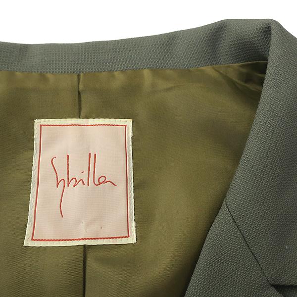 Sybilla シビラ ウール100% 7分袖ジャケット ワンピースセットアップ M-L_画像9