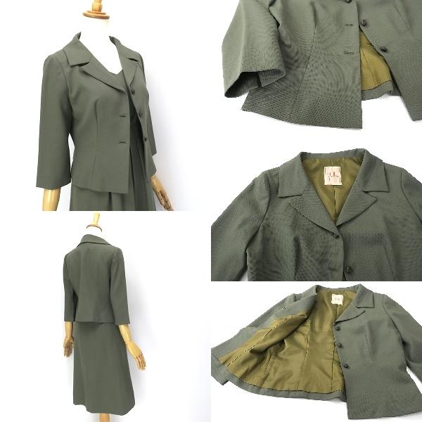 Sybilla シビラ ウール100% 7分袖ジャケット ワンピースセットアップ M-L_画像2