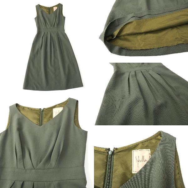 Sybilla シビラ ウール100% 7分袖ジャケット ワンピースセットアップ M-L_画像4