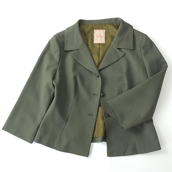 Sybilla シビラ ウール100% 7分袖ジャケット ワンピースセットアップ M-L_画像8