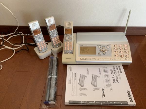 ★パーソナルファクシミリ&電話機(三洋)SANYO SFX-DW700 使用感あり 説明書付き インクリボン新品 TEL-CHDJ5★