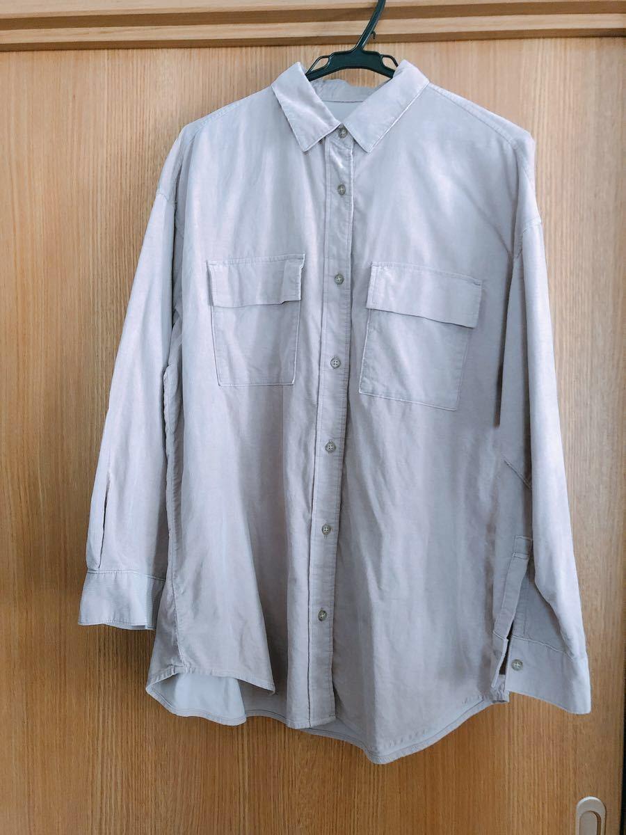 コーデュロイオーバーサイズシャツ(長袖)AM