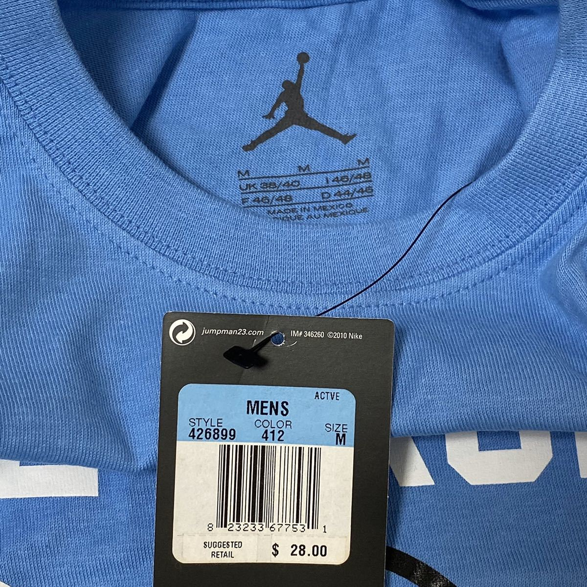 【激レア・即発送可】 NIKE AIR JORDAN NY SUBWAYモチーフTシャツ sizeM エアジョーダン 地下鉄 THE BRONX _画像3