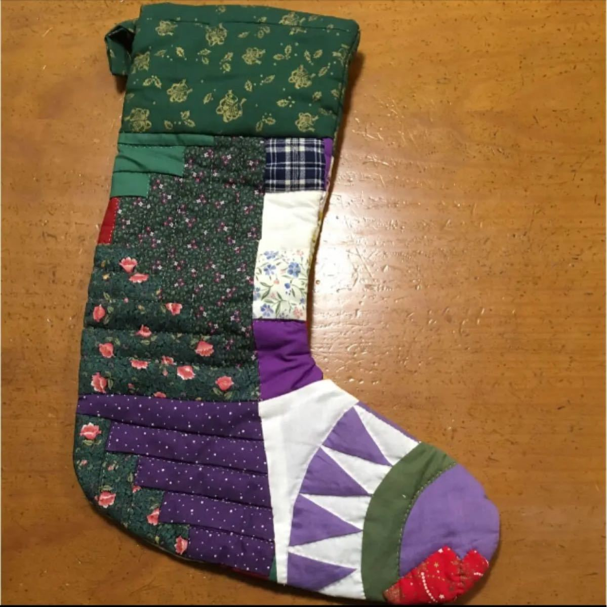 パッチワーク クリスマス用靴下 ♪おまけ付き♪