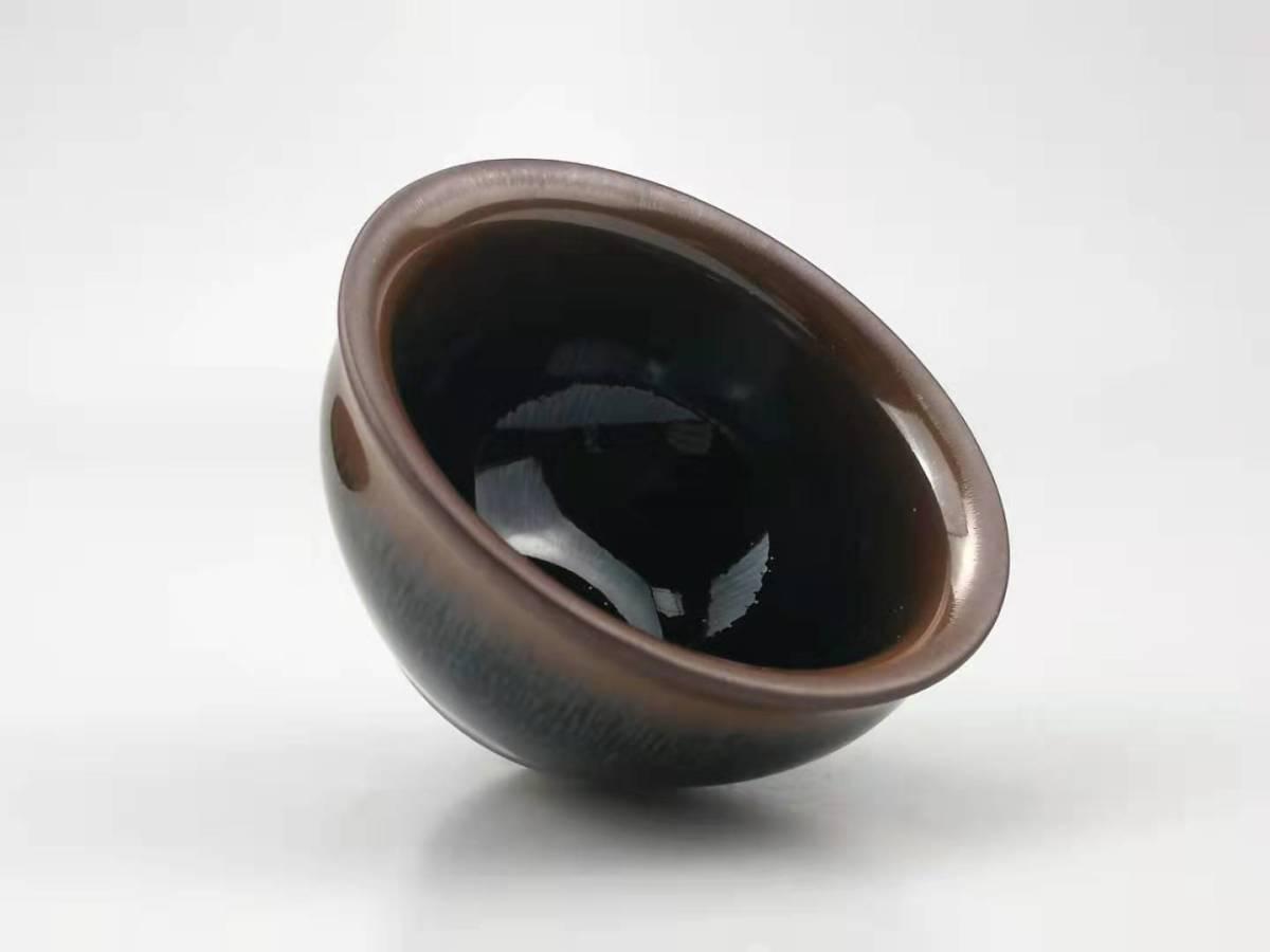 天目茶碗 曜変油滴星天目 茶道具 窯変星目盞 茶盞 茶器 抹茶碗 てんもくちゃわん 建窯正品 陶磁器 111203