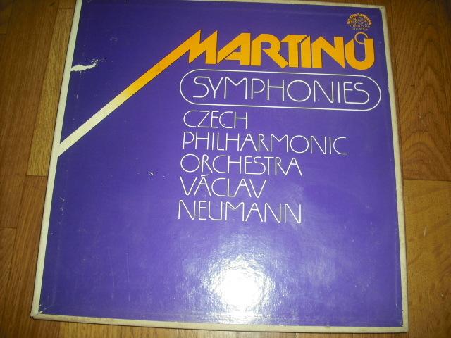 チェコSUPRAPHON 1410 3071/4 ノイマン指揮/マルティーヌ交響曲全集 4LPBox 青銀小字盤_画像1