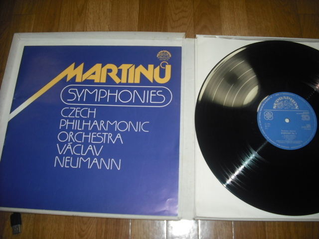 チェコSUPRAPHON 1410 3071/4 ノイマン指揮/マルティーヌ交響曲全集 4LPBox 青銀小字盤_画像2