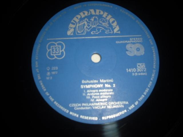 チェコSUPRAPHON 1410 3071/4 ノイマン指揮/マルティーヌ交響曲全集 4LPBox 青銀小字盤_画像4