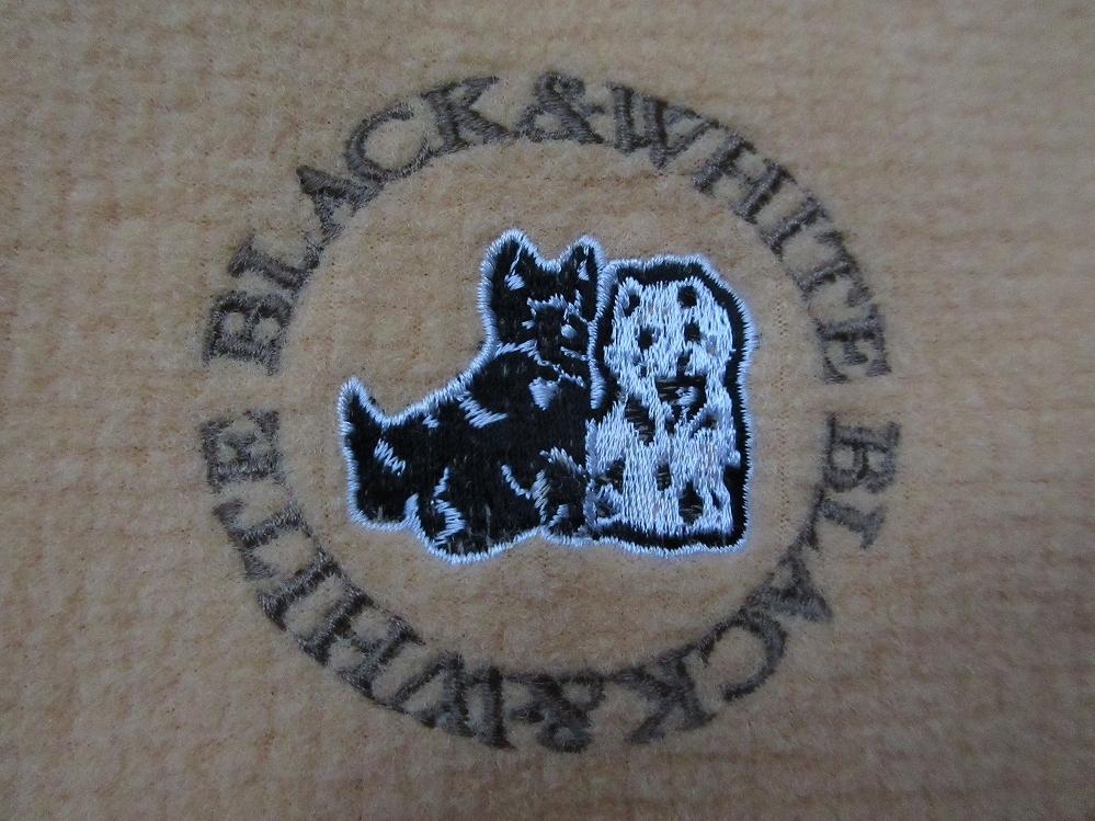 日本製 ブラック&ホワイト ワンポイント 刺繍 ベスト L オレンジ系 Black&White ゴルフ スコティッシュ テリア ジャケット MADE IN JAPAN_画像6
