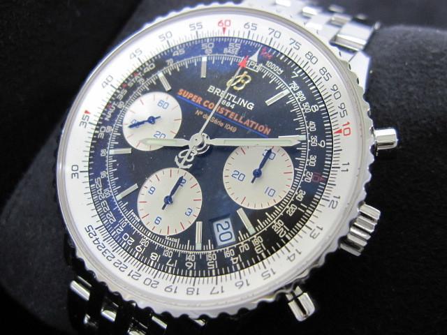 下松)BREITLING ブライトリング 腕時計 ナビタイマー スーパーコンステレーション A232BSCNP 自動巻き 世界限定 ブラック ◆FM0321_画像1