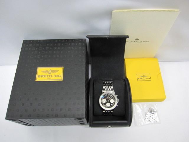 下松)BREITLING ブライトリング 腕時計 ナビタイマー スーパーコンステレーション A232BSCNP 自動巻き 世界限定 ブラック ◆FM0321_画像9
