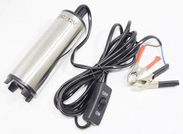 「送料無料 水中ポンプ 12V バッテリー クランプ 給水 排水 海水 プール 水槽 船 ワニクリップ 汚水 給油 ガソリン 燃料 灯油 小型A 新品」の画像1