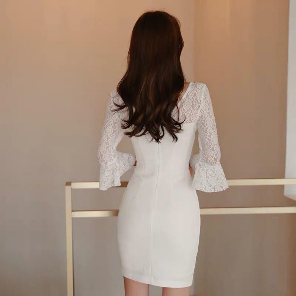ワンピースドレス タイトワンピース  膝上丈 セクシー 韓国ファッションc704