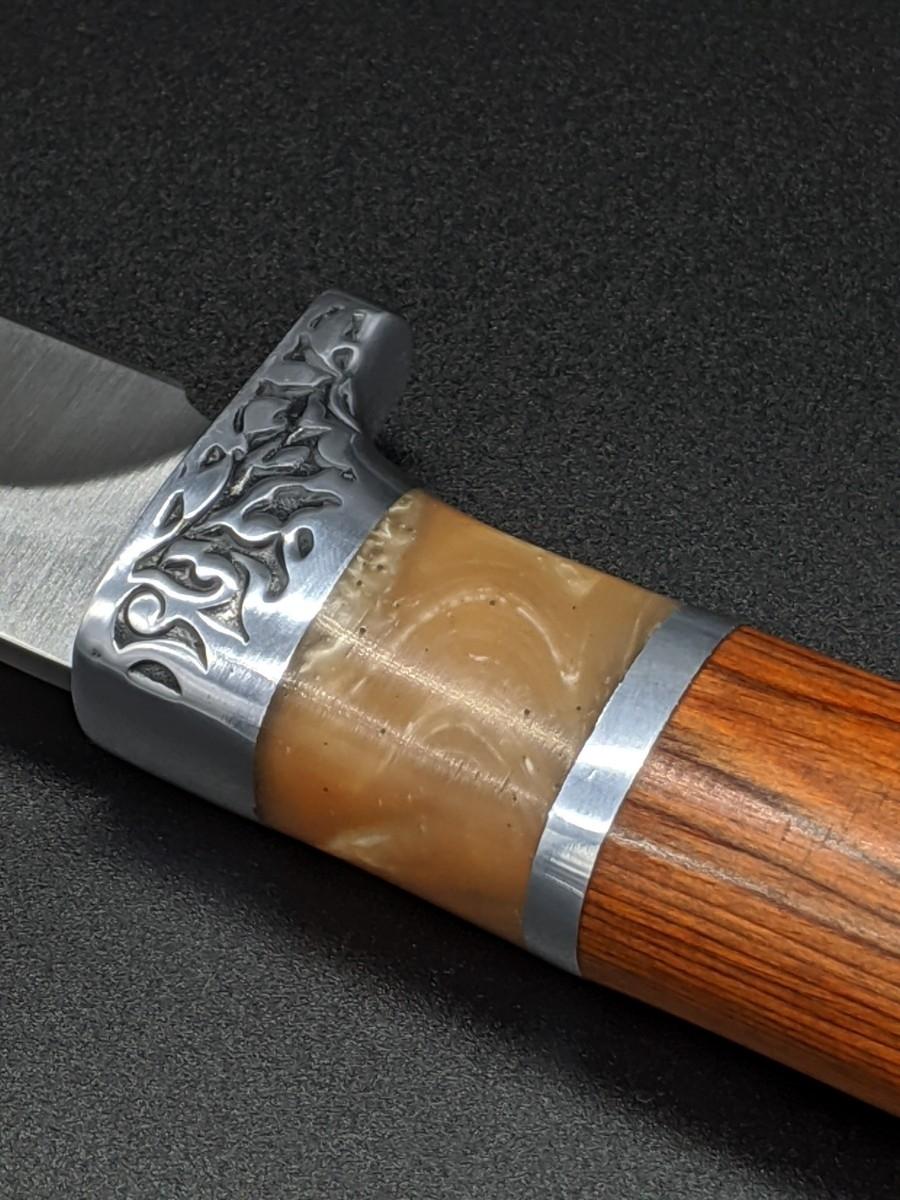 シースナイフ ノーブランド ウッドハンドル ハンドナイフ コロンビア ハンティング キャンプ 釣り サバイバルナイフ