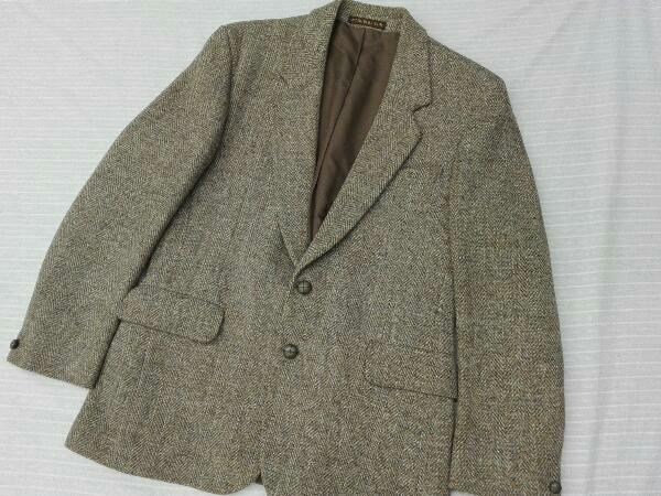 【ヴィンテージ/ジャケット】Dunn&Co ダンコー テーラードジャケット HARRIS TWEED ハリスツイード WOOL100% 英国 古着 レトロ メンズ_画像1