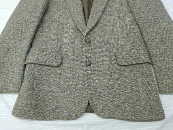 【ヴィンテージ/ジャケット】Dunn&Co ダンコー テーラードジャケット HARRIS TWEED ハリスツイード WOOL100% 英国 古着 レトロ メンズ_画像4